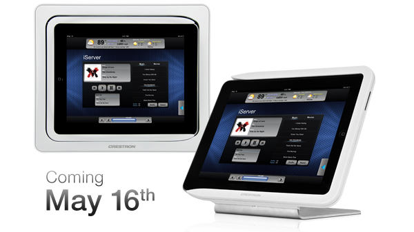 crestron introduces new docking stations for ipad and ipad. Black Bedroom Furniture Sets. Home Design Ideas