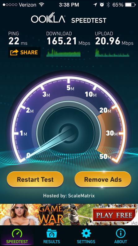 WiFi Speed test 2